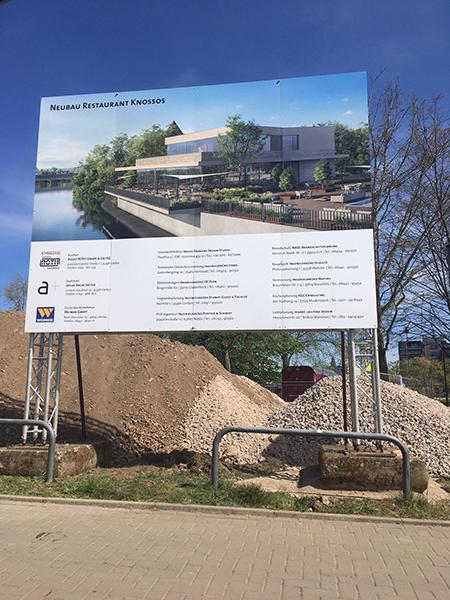 Großküchenfachplanung für den Neubau und die Interimslösung des Projektes Restaurant Knossos Gießen