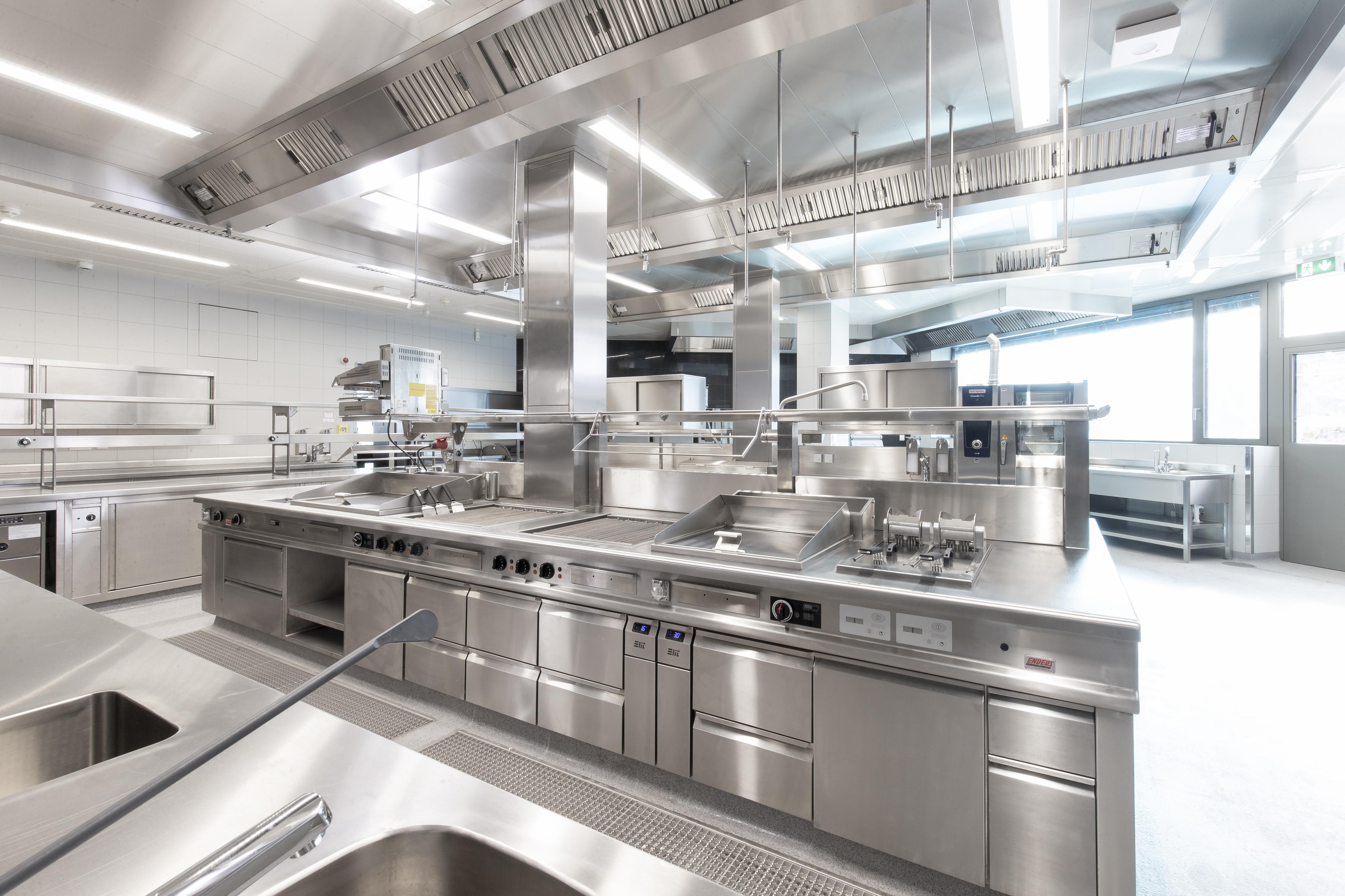 Produktionsbereich Grossküche Restaurant Knossos